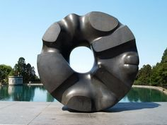 Black Sun by Isamu Noguchi, 1969. Noguchi was an American installation artist, sculptor and landscape architect of Japanese descent.