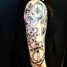 Half Sleeve Tattoo Ideas Black White