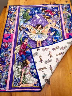 #enchantedfairypanel #minky #balletanimals I made this for a 2 year old little girls' birthday.  I did alot of #glitter #sparkle #threadplay She calls it her #magiccarpet #child's #lapquilt #panel