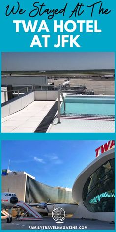 We stayed at the new TWA Hotel at JFK Airport in New York City. It's a fun, themed hotel featuring TWA memorabilia, in the original TWA terminal. Family Cruise, Family Travel, Places To Travel, Travel Destinations, Travel Tips, Travel Hacks, Busch Gardens Tampa Bay, Nyc With Kids, Viajes