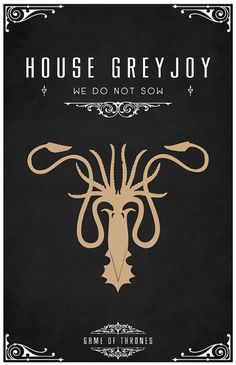 Are you a fan of Game of Thrones? Then you are going to love this amazing Game of Thrones poster series. Game Of Thrones Series, Game Of Thrones Party, Game Of Thrones Tv, Game Of Thrones Crests, Casa Greyjoy, Casas Game Of Thrones, Game Of Throne Poster, Poster Minimalista, High Fantasy