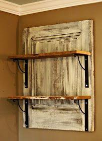 the painted home diy barnwood shelf love this minus the door the shelves barn wood ideas