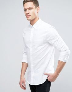 Get this Burton Menswear's long shirt now! Click for more details. Worldwide shipping. Burton Menswear Slim Long Sleeve Oxford Shirt - White: Shirt by Burton Menswear London, Woven fabric, Point collar, Button placket, Long sleeves, Slim fit - cut close to the body, Machine wash, 100% Cotton, Our model wears a size Medium and is 185.5cm/6'1 tall. British brand Burton Menswear London combines a long heritage of tailoring with a modern take on relaxed formal and casualwear to bring an added…