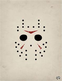Sexta-feira 13 Jason máscara cartaz minimalista