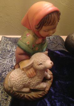 "Anri Ferrandiz 6"" Shepherd Girl with Lamb 55700 52 | eBay"