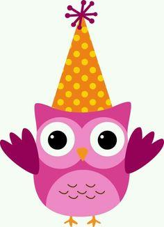 Con gorro Owl Clip Art, Owl Art, Owl Parties, Whimsical Owl, Minnie Png, Birthday Clipart, Owl Cartoon, Owl Pictures, Owl Always Love You