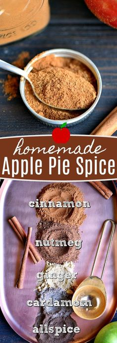 Homemade Apple Pie Spice is a fall baking essential! Just a handful of ingredien. Homemade Apple Pie Spice is a fall baking essential! Just a handful of ingredients and you& be ready to add amazing flavor to your recipes! Homemade Apple Pies, Homemade Spices, Homemade Seasonings, Pie Spice Recipe, Apple Pie Spice, Apple Recipes, Fall Recipes, Spice Mixes, Spice Blends