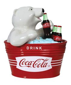 Another great find on #zulily! Coca-Cola Polar Bear Cookie Jar by Coca-Cola  #zulilyfinds