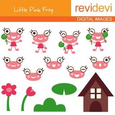Cute frog clip art in pink. Digital clipart resource for creating TpT materials.This cute digital clipart set is great for teachers and educators. The collection is suitable for school and classroom projects such as for bulletin board, learning printable, worksheet, classroom decor, craft materials, activities and games, and for more educational and fun projects.You will receive:- Each clipart saved separately in PNG format, 300 dpi with transparent background.- Each clipart saved separately…