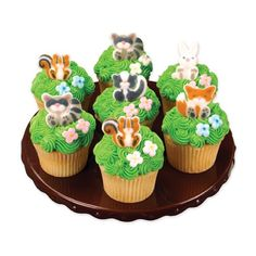 Woodland Animals Edible Sugar Decorations for by BakersBlingShop