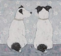 Alfie and Ted Arcylic With Mixed Media x This has been SOLD Alfie und Ted Arcylic Mit Mixed Media x Dies wurde verkauft Art And Illustration, Dog Artwork, Historical Art, Cat Drawing, Dog Portraits, Animal Paintings, Art Techniques, Cute Art, Folk Art