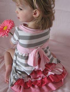 Kleid für Mädchen mit Rüschenrock