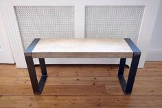 Oak Bench with Industrial Steel Legs - Handmade, Industrial Chic, Rustic Bench/Seat/Seating by escafell on Etsy https://www.etsy.com/uk/listing/526715543/oak-bench-with-industrial-steel-legs