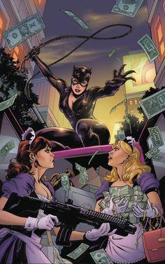 Catwoman Comic, Batman And Catwoman, Joker And Harley, Batman Robin, Dc Comics Art, Comics Girls, Anime Comics, Catwoman Selina Kyle, Brian Michael Bendis