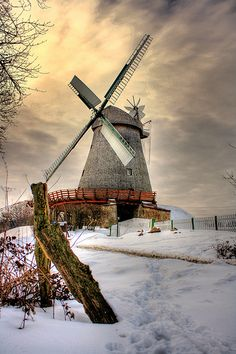 Winter . .  . .  . . . . . . . . . . . . ..  . . . . .Vlotho - Windmühle in Exter 10 | Flickr - Photo Sharing!