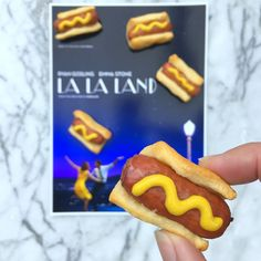 Fun Food Ideas for an Academy Awards Party in front of the TV - These mini Pink's Hot Dogs are to celebrate La La Land
