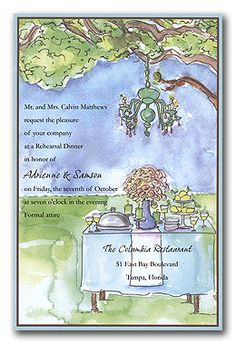 ~ A beautiful invitation to pretty much any event that has food