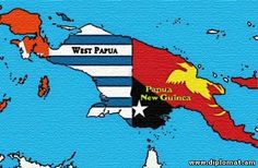 A future possibility an independent and self rule West Papua (on the left) at home with Papua New Guinea in Melanesia aka South Asia.