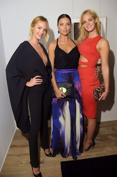 September 10 2014 | Candice Swanepoel, Adriana Lima and Erin...