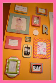 Tons of DIY frame tutorials & some cute collage wall ideas!