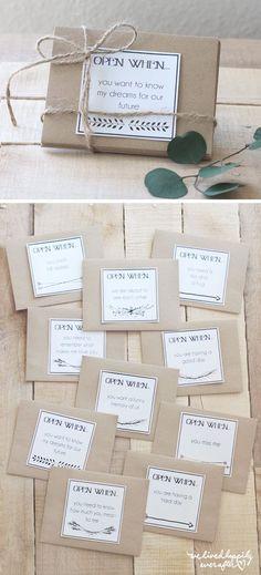Open When Envelope Labels for Long Distance Relationships