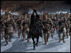 Wheel of Time - Robert Jordan - Myrddraal leading Trollocs