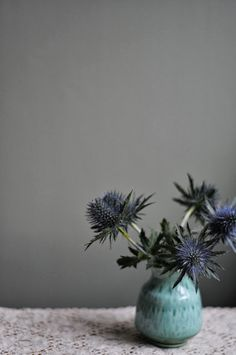 sea holly - this board features flowers that are usually available for florists to buy in the UK in February for a February wedding. Winter - Spring - Wedding - Florals - Flowers - Seasonal - UK - England - Bouquet - Buttonholes - Table - Arrangement
