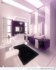 15 Majestically Pleasing Purple and Lavender Bathroom Designs