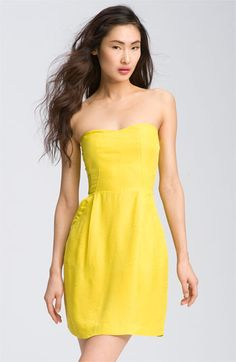 Rebecca Taylor Strapless Textured Silky Dress at Nordstrom's
