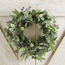 "Faux Eucalyptus & Greenery Mini 14"" Wreath"