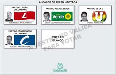 Tarjetón para elección de Alcalde para Belén