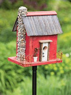 Homemade Barn Birdhouse Pool Feeder Bird Houses
