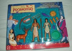 Pocahontas - Kocoum & Nakoma Action Figure Gift Set by Arcotoys Inc. $59.99. Playset includes Dear and Fish. Bow and arrows with quiver to hold arrows. Also a  spear and knife for Kocoum. Bowl with Corn Squash & Eggplant for Nakoma. From Disney's Pocahontas Characters Kocoum & Nakoma. Playsets to promote creativity. These action figures and accessories provide fun recreations from famous Disney Movies.