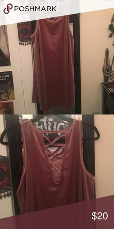 Velvet sleeveless dress never worn and in perfect condition! super soft Charlotte Russe Dresses