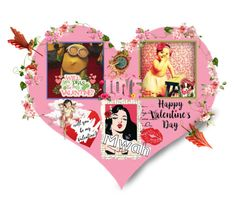 """""""Valentine: Mwah!"""" by polyamorless ❤ liked on Polyvore featuring art"""
