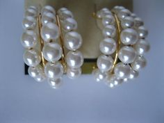 Imitation Pearl Earrings Goldtone Vintage by GotMilkGlassAndMore, $5.95
