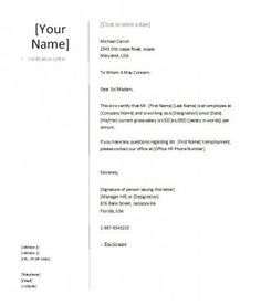 Download Proof Of Employment Letter Template 02