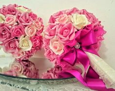 Buque de Noiva Médio Rosa Pink