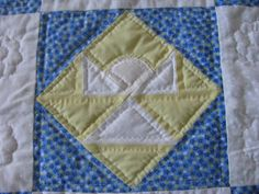 My 'Angel' quilt made by my aunt Nancy.