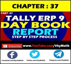 Chapter 37 : How to Maintain Day Book in Tally Day Book, Teaching, Youtube, Books, Livros, Libros, Book, Learning, Education