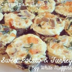 Ripped Recipes - Sweet Potato and Turkey Egg White Muffins - Awesome breakfast meal prep for the work week!