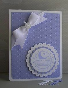 SU So Many Scallops stamps, Circle and Scallop Circle Nesties, CB Folder Baby Girl Cards, New Baby Cards, Sister Quotes, Daughter Quotes, Mother Quotes, Father Daughter, Family Quotes, Hand Made Greeting Cards, Embossed Cards