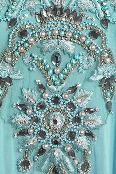 Marchesa | Silk-chiffon embroidered kaftan | NET-A-PORTER.COM