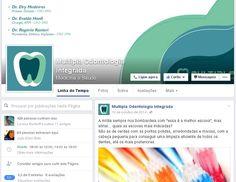Gestão de conteúdo no Facebook da Multipla Odontologia.