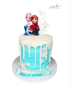 Elsa, Anna, and Olaf topped this Frozen Inspired Birthday Cake. Click the link below for more information ordering your celebration cake today. Frozen Themed Birthday Cake, Disney Themed Cakes, Olaf Birthday, Elsa Anna, Elsa Olaf, Cakes Today, Celebration Cakes, Disney Inspired