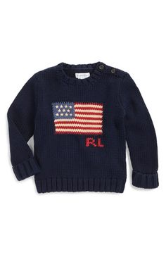 Ralph Lauren Combed Cotton Knit Sweater (Baby Boys)