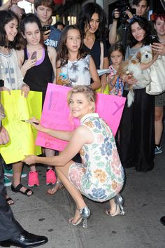There seems to be nothing Chloë Grace Moretz wouldn't do to keep her fans happy.