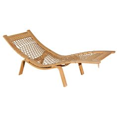Hans Wegner Hammock lounge chair by Getama | From a unique collection of antique and modern chaises longues at http://www.1stdibs.com/furniture/seating/chaises-longues/