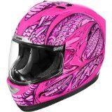 Icon Speedmetal Women's Alliance Street Racing Motorcycle Helmet - Pink / X-Small - http://vintagemotorcyclehelmets.net/icon-speedmetal-womens-alliance-street-racing-motorcycle-helmet-pink-x-small/