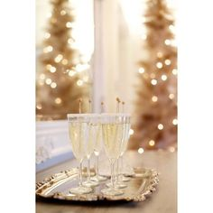 A French Christmas Soiree ❤ liked on Polyvore featuring home, home decor, holiday decorations and christmas